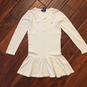 Ralph Lauren White Long Sleeve Dress